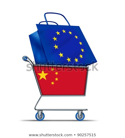 koszyk · Chiny · banderą · zakupu · tle · sklep - zdjęcia stock © lightsource