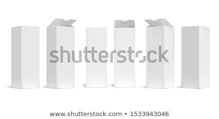Abrir cartão pacote marrom acondicionamento caixa Foto stock © nikdoorg