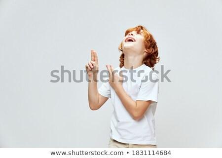 代 · にきび · スポット · 少年 · 顔 · 子供 - ストックフォト © meinzahn
