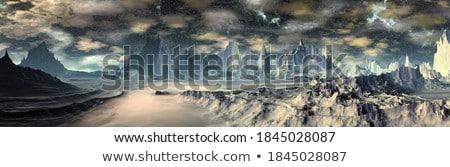 Alienígena costa colorido planeta abstrato Foto stock © kimmit