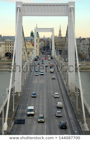 Elisabeth Bridge, Budapest, frontal view Stock photo © bloodua