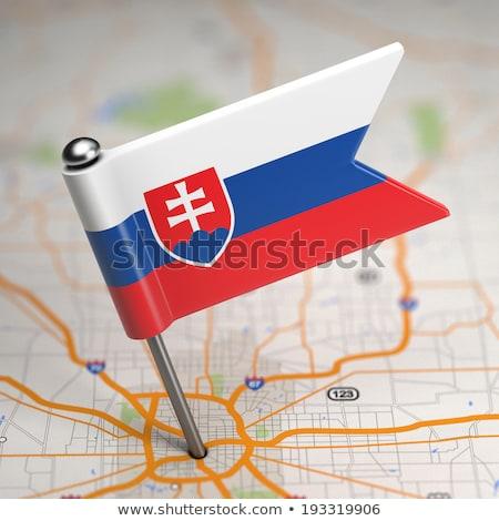 Slovaquie faible pavillon carte mise au point sélective fond Photo stock © tashatuvango