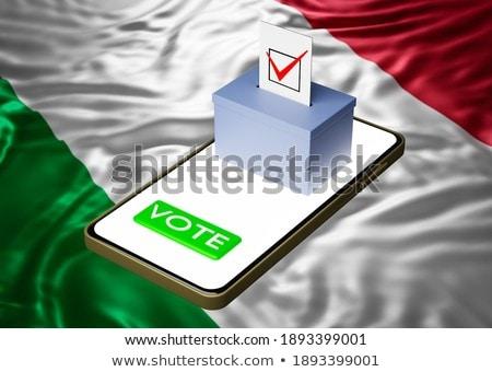 Smartphone bandiera Italia telefono internet telefono Foto d'archivio © vepar5