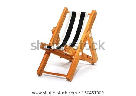 Zegar leżak plaży ściany lata krzesło Zdjęcia stock © flipfine