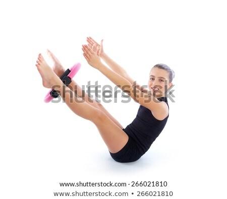 Fitness pilates ioga anel criança menina Foto stock © lunamarina