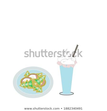 Stockfoto: Groene · thee · chocolade · cookies · voorraad · foto