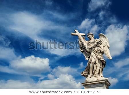 Ange statue ciel bleu Photo stock © njnightsky