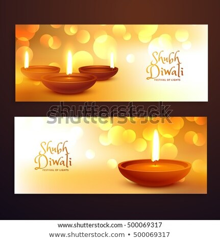устрашающий набор Дивали фестиваля Баннеры Сток-фото © SArts
