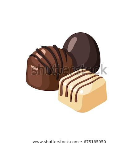 chocolate sweet a truffle stock photo © restyler