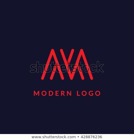 красный икона логотип письме знак линия Сток-фото © blaskorizov