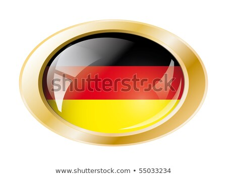 Flag of Germany on metalic frame Stock photo © colematt