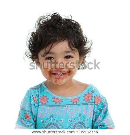 süß · indian · Baby · liebenswert · großen · Augen · Eltern - stock foto © lichtmeister
