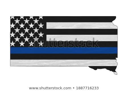 Güney Dakota polis destek bayrak örnek biçim Stok fotoğraf © enterlinedesign