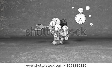Közelkép óra kezek izolált fehér üzlet Stock fotó © nomadsoul1