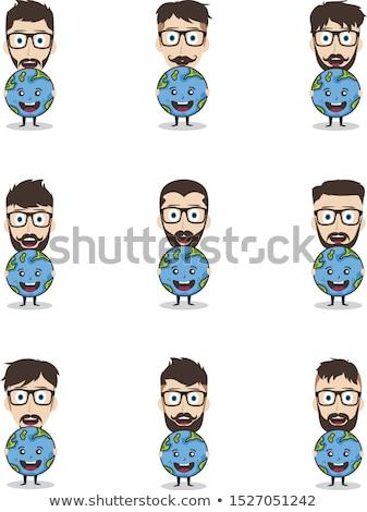 Sparen Planeten Erde Kampagne Mann halten Welt Stock foto © vector1st