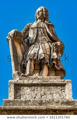 Statue of Scipione Francesco Maffei  in Verona, Italy Stock photo © boggy