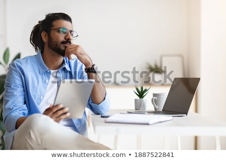 Business person looking for new idea Stock photo © ra2studio