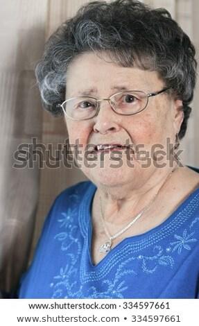 Portre yıl eski kıdemli daire kadın Stok fotoğraf © Lopolo