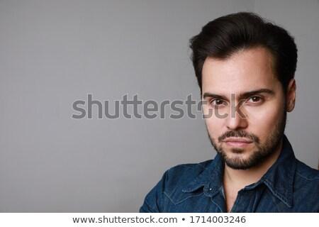 Horizontal retrato atractivo alegre calvo barbado Foto stock © vkstudio