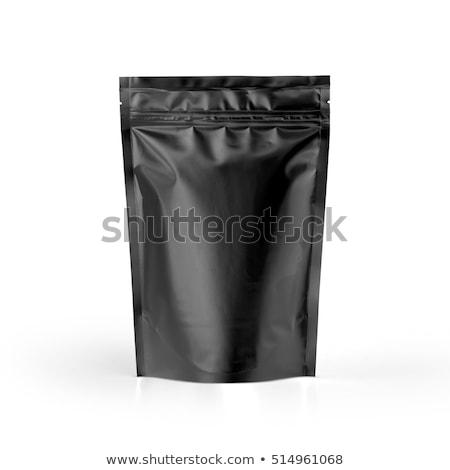 White and Black Blank Foil Food Stock photo © netkov1
