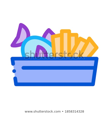 souvenir basket icon vector outline illustration Stock photo © pikepicture
