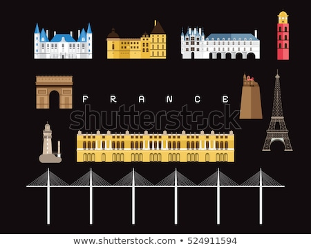 France Country Travel Minimal Infographic Banner Vector Stock photo © pikepicture