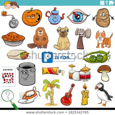 I betű szavak oktatási feladat gyerekek rajz Stock fotó © izakowski