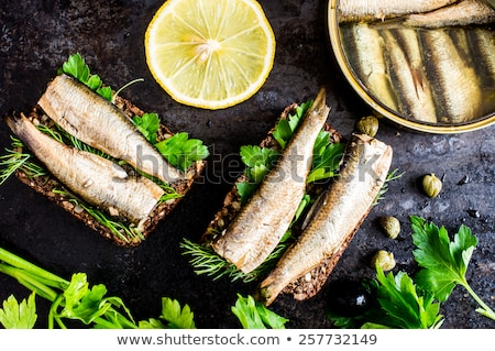 Canned smoked sprats in oil Stock photo © furmanphoto