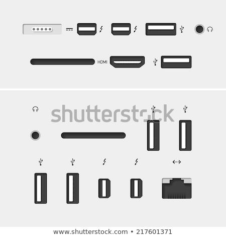 Vector usb plug symbol icon Stock photo © nickylarson974