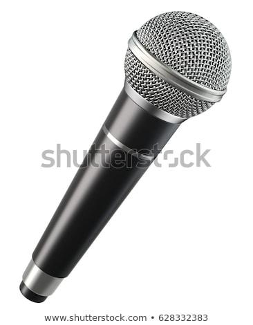 Microfoon geïsoleerd witte muziek radio concert Stockfoto © goir