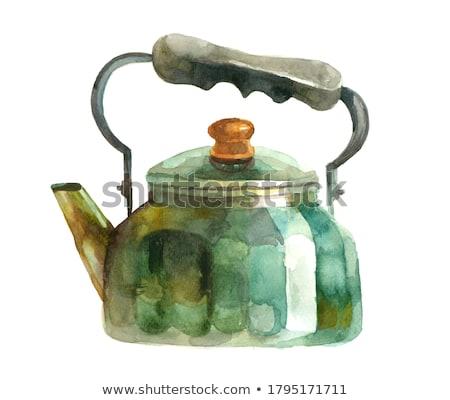 Antique cuisine four vieux feu mur Photo stock © johnnychaos