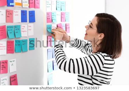 Mujer nombramiento oficina trabajo fondo mesa Foto stock © photography33
