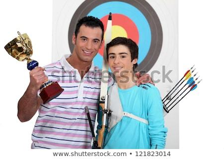 Vader overwinning kampioenschap liefde kind Stockfoto © photography33