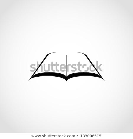 Cd nyitott könyv CD izolált fehér könyv Stock fotó © a2bb5s
