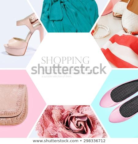 コラージュ · 女性 · ショッピングバッグ · 笑顔 · ファッション · 美 - ストックフォト © wavebreak_media