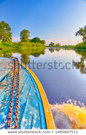 water splash at the starboard boat side stock photo © lunamarina