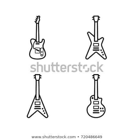 ベクトル アイコン 電子 ギター ストックフォト © zzve