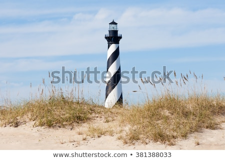 farol · ilha · bancos · Carolina · do · Norte · céu - foto stock © meinzahn