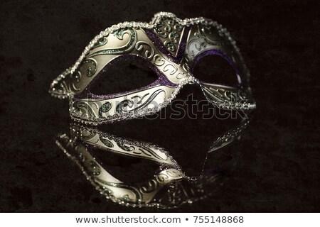 kleurrijk · drama · masker · geïsoleerd · witte · abstract - stockfoto © hofmeester