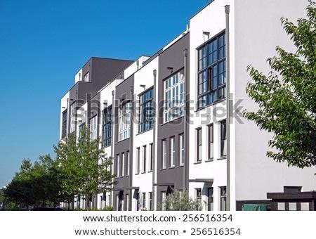 modern serial houses stock photo © elxeneize