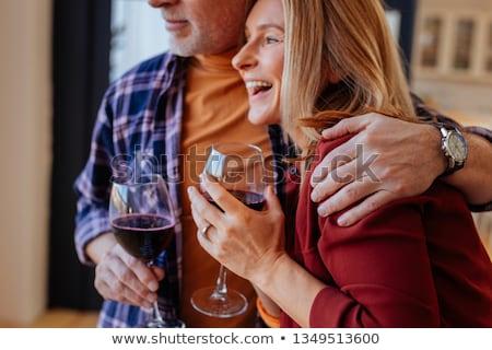 ビジネスマン · 飲料 · ワイン · ホーム · 幸せ · 座って - ストックフォト © nyul