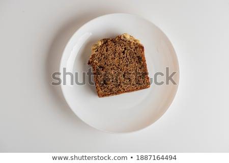 Vers croissant geserveerd ontbijt voedsel brood Stockfoto © flariv