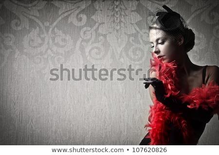 Nő toll szőke hosszú hamisítvány 16 Stock fotó © lubavnel