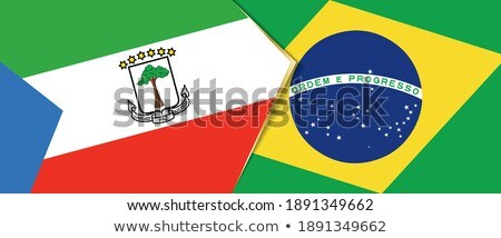 Brazil and Guinea Flags  Stock photo © Istanbul2009