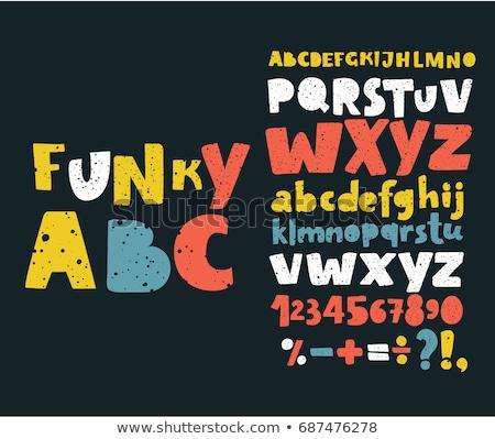 вектора алфавит Funky письма шрифт искусства Сток-фото © rommeo79