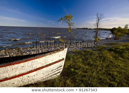 Old Weathered fishing boat on Hecla Island Manitoba Stock photo © pictureguy