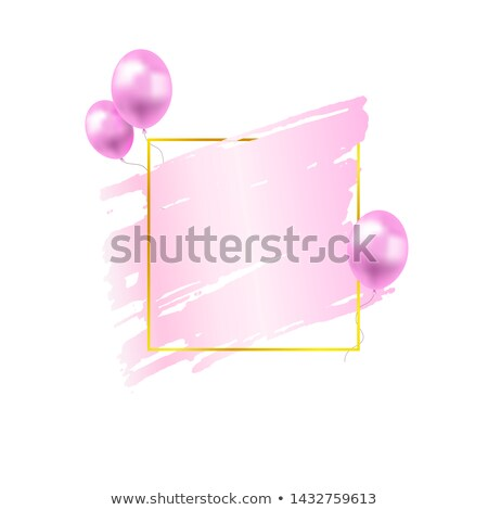 pink paint brish stroke watercolor background Stock photo © SArts