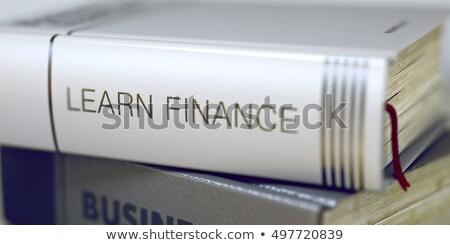 Tanul pénzügy könyv cím 3D gerincoszlop Stock fotó © tashatuvango