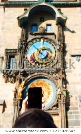 Moço quadro Praga relógio Foto stock © nito