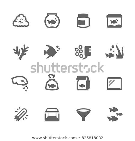 аквариум икона вектора долго тень веб Сток-фото © smoki